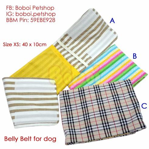 harga Belly belt belly band ikat pinggang anjing celana popok anjing - xs Tokopedia.com