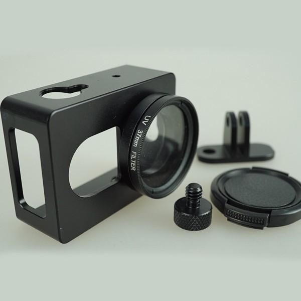 harga Aluminum protective case for xiaomi yi with cnc screw & uv filter Tokopedia.com