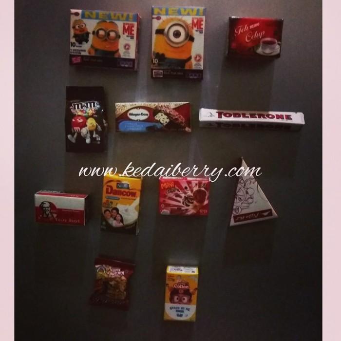 harga Paket hemat magnet tempelan kulkas snack miniatur lucu grosir murah Tokopedia.com