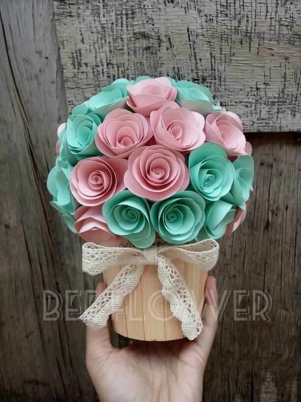 Jual Bunga Pot Bunga Mawar Bunga Kertas Hadiah Wisuda Kado