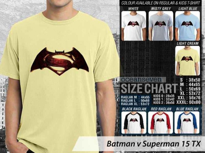 harga Batman V Superman 15 Tx  ~ Tshirt/kaos/raglan/anak Oceanseven Tokopedia.com