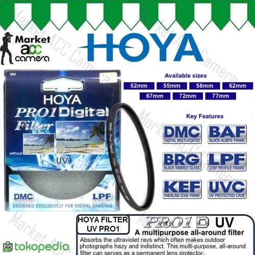 harga Filter uv hoya pro1 52mm 55mm 58mm for canon nikon sony cameras Tokopedia.com