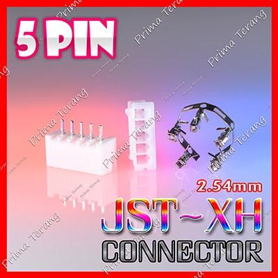 Foto Produk JST XH Connector 5 Pin Lurus JST-XH 2.54mm Konektor Baterai LiPo 5P dari Prima Terang
