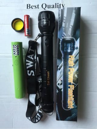 harga Senter police u/security model tali sandang komplit charge+batre Tokopedia.com