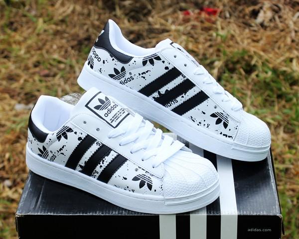 Economici Superstar Scarpe Adidas Bianco casual nere strisce Ultime 7vOEqIEwT