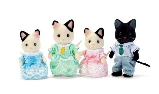 harga Sylvanian families original 5181 - tuxedo cat family Tokopedia.com