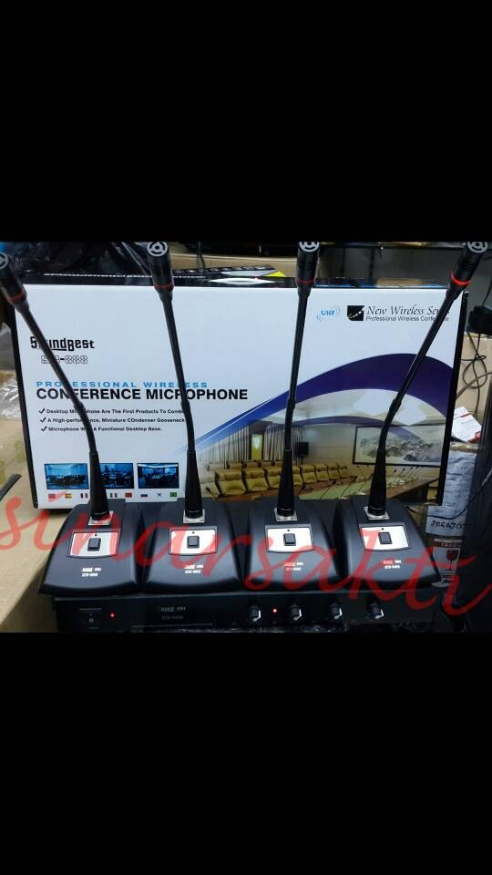 Mic wireless conference / podium soundbest sb 888 ( 4bh mic meja )