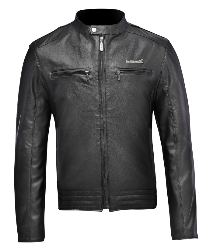 harga Jaket kulit honda leather jacket daniel black keren hitam Tokopedia.com