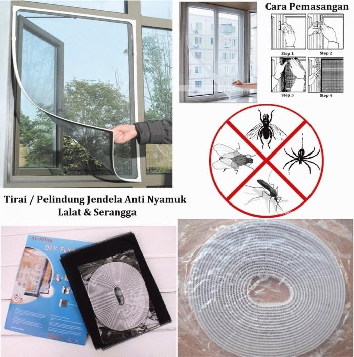 harga Tirai pelindung jendela anti nyamuk lalat dan serangga Tokopedia.com