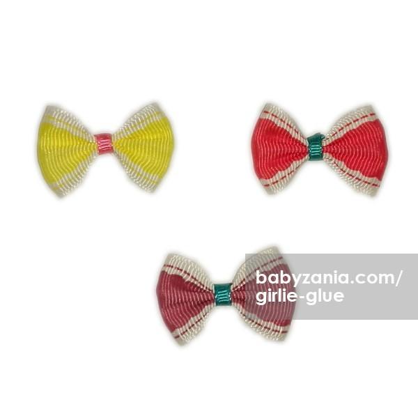 harga Girlie glue vintage bows / jepitan tempel - pink kuning Tokopedia.com