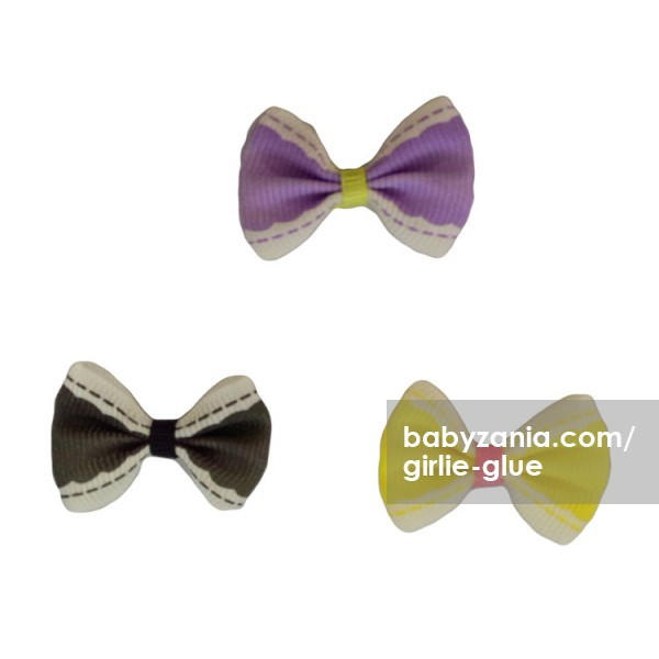 harga Girlie glue vintage bows / jepitan tempel - hitam ungu kuning Tokopedia.com