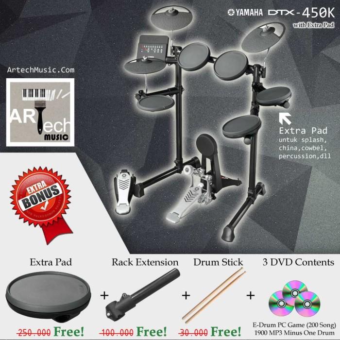 harga Drum elektrik yamaha dtx450k with xtrapad/ dtx450 / dtx 450 / dtx 450k Tokopedia.com