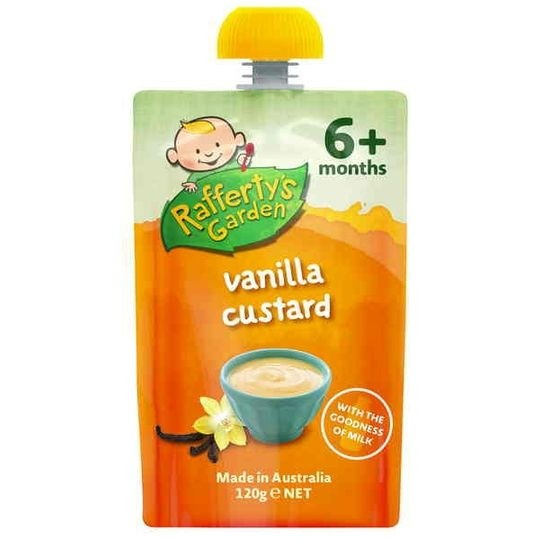 harga Rafferty's garden baby food vanilla custard 6+ Tokopedia.com