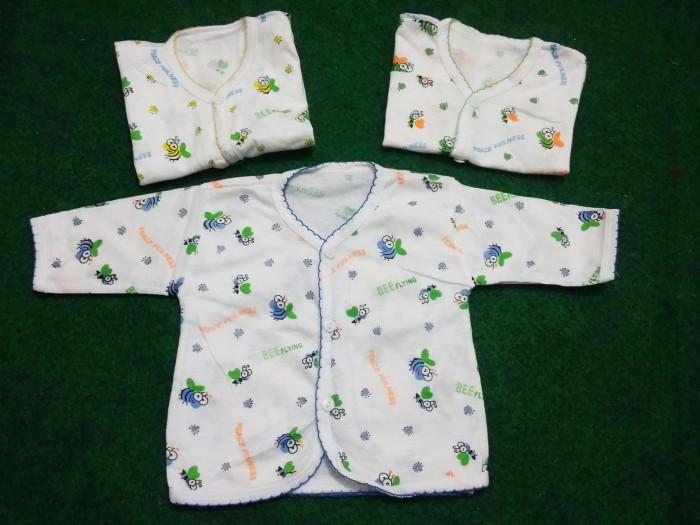 Baju Bayi Baru Lahir Lengan Panjang Atasan 0-3bln Baby New Born Katun