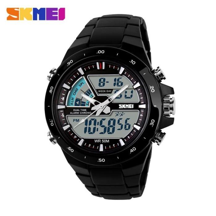 harga Skmei jam dual time sporty - (water resistant) sk-14 Tokopedia.com