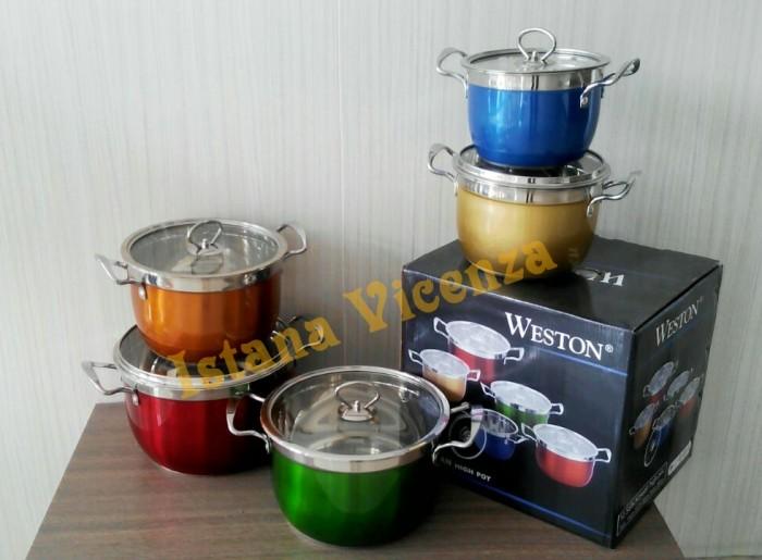 harga Panci set rainbow weston Tokopedia.com