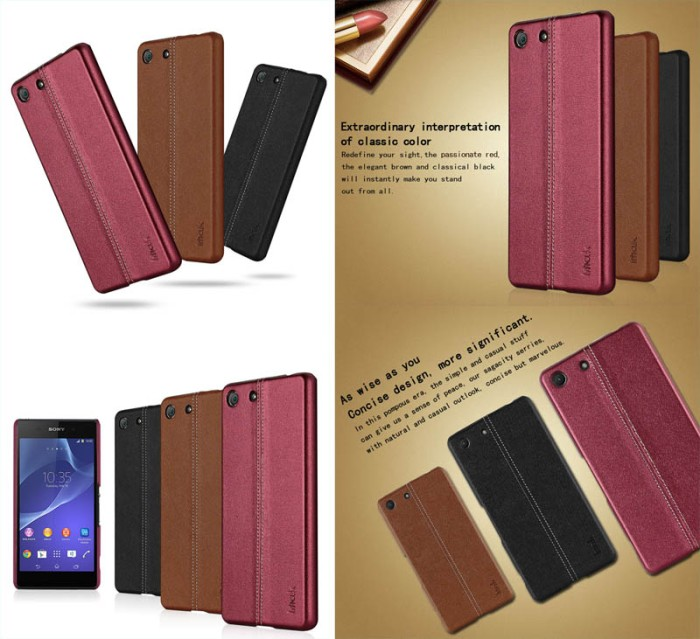 harga Imak back leather case sony xperia c5 ultra - c5 ultra dual Tokopedia.com
