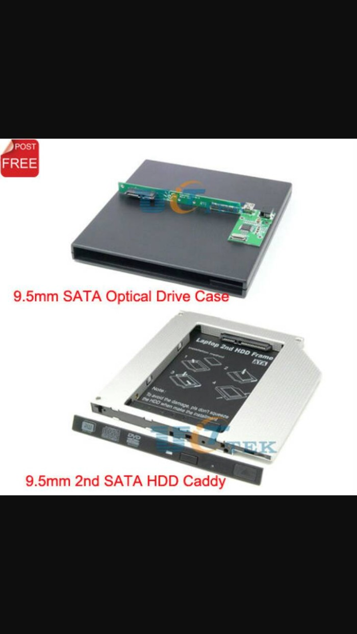 harga Caddy 9.5 mm - hardisk sata / ssd utk laptop Tokopedia.com