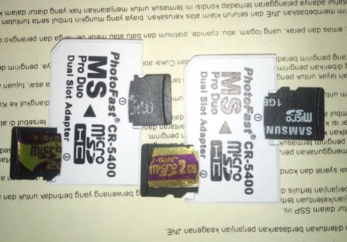 harga Adapter stikduo prophotofast 2slot micro sd ke stikduo psp Tokopedia.com