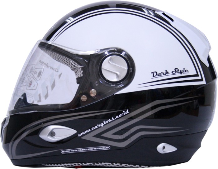 harga Helm cargloss full face black white nhk kyt ink mds fullface Tokopedia.com