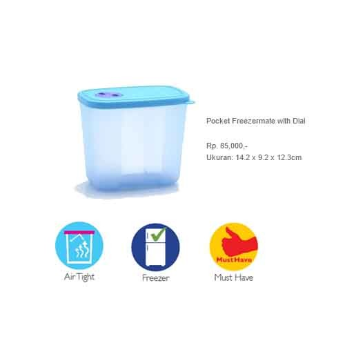 Pocket Freezermate (Tempat Makanan di Freezer) Tupperware Promo Disc