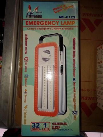 harga Lampu emergency led charge & baterai ms 6123 mitsuyama Tokopedia.com