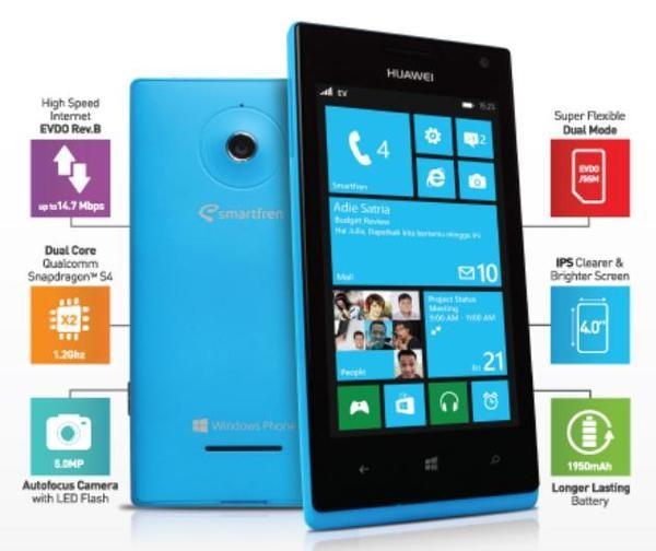 huawei w1. windows phone smartfren huawei ascend w1
