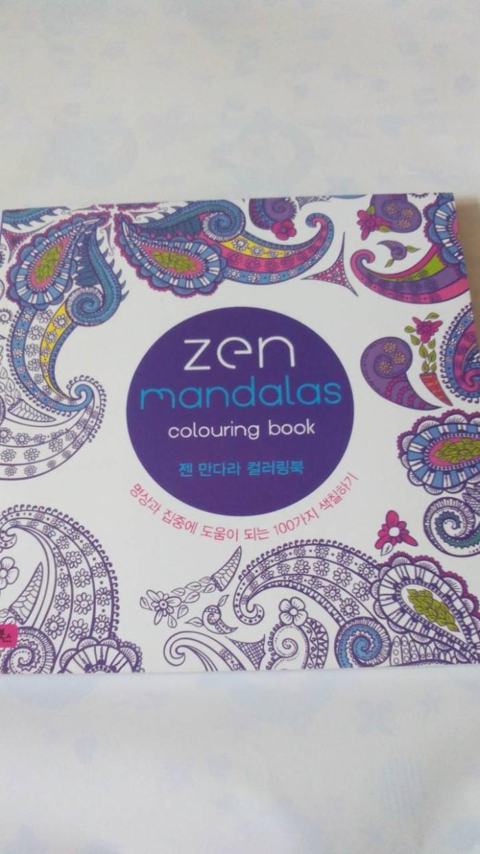 Coloring Book For Adults Buku Mewarnai Import Zen Mandalas