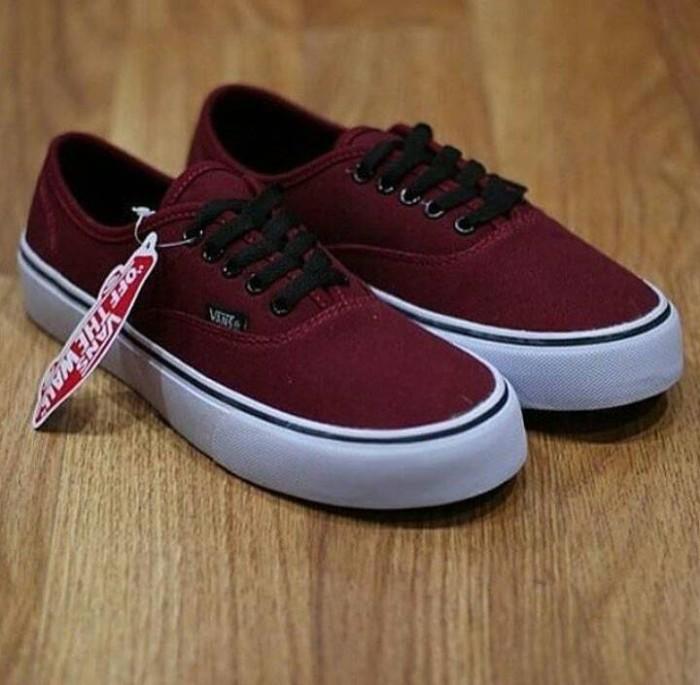 Jual Sepatu Vans Authentic Port Royal Merah Marun Ifc Keren Murah