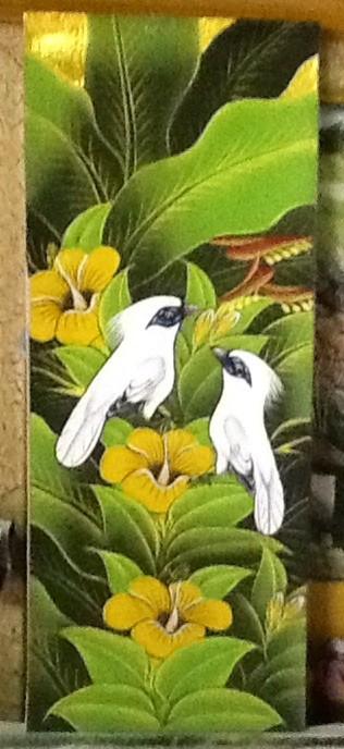harga Lukisan  burung  jalak putih latar belakang bunga kembang sepatu Tokopedia.com