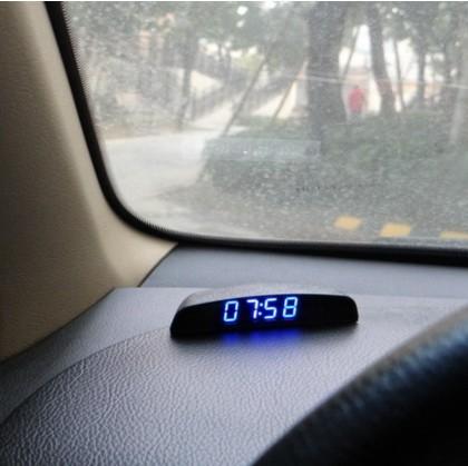 harga 12v car mobil jam clock thermometer temperature voltage monitor Tokopedia.com
