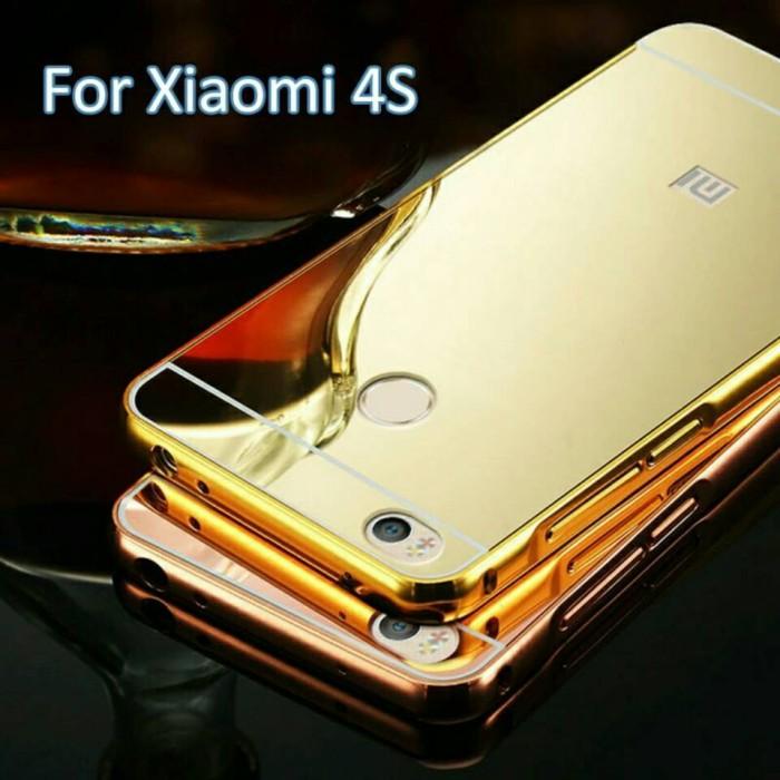 Metal Aluminium Bumper + Mirror Back Case Xiaomi Mi4s