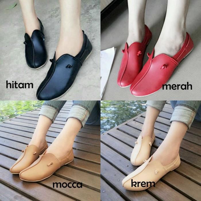 Jual Sepatu Sandal Flatshoes Flat Shoes Wanita Kulit Sintetis Kerja ... dca00651e8