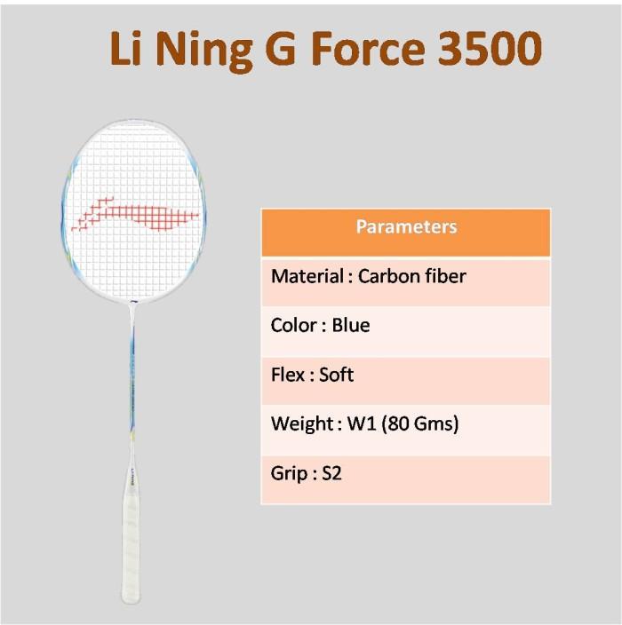 Jual Raket Badminton Lining G Force Lite 3500 Original