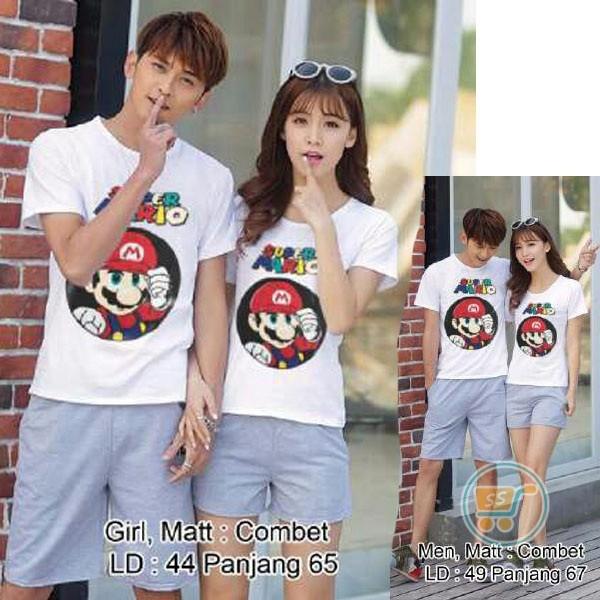 harga Baju Couple Mario Bros Kaos Tshirt Pasangan Tee Super Mario Pergi Tokopedia.com