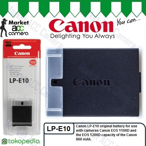 Jual Battery Canon LP-E10 for EOS 1300D / EOS Rebel T3, T5, T6 - DKI  Jakarta - Market ACC Camera   Tokopedia
