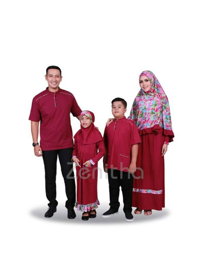 Jual Busana Muslim Keluarga Zenitha Zn 248 Baju Muslim Sarimbit