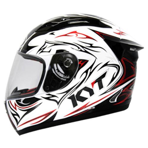 Helm KYT RC Seven RC7 Motif Black White Full Face RC 7 Red