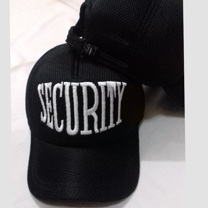 Jual topi jaring dobel mess topi satpam topi security hitam - Topi ... fd40b9ce73
