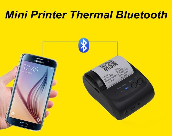 harga Mini printer thermal bluetooth bisa hp android ios print token listrik Tokopedia.com