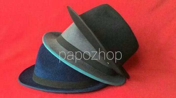 Jual topi fedora jazz coboy hat dewasa beludru hats pria wanita ... 9cd0e4fc66