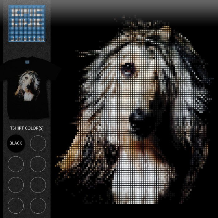 Anjing Afghan Hound Dog T-Shirt Epicline Project by TAP (TShirt, Kaos)