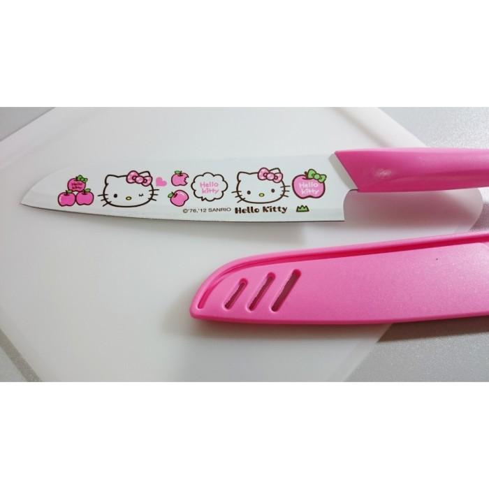 Hello Kitty Pisau Dapur Cantik Pink 27cm