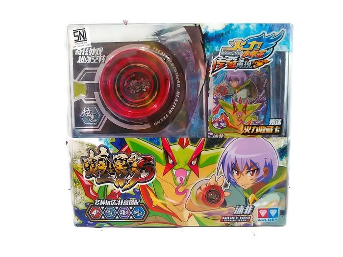 Mainan YOYO Auldey Blazing Teens Dark Viper S LV 4 Red ORI Mufei Murah