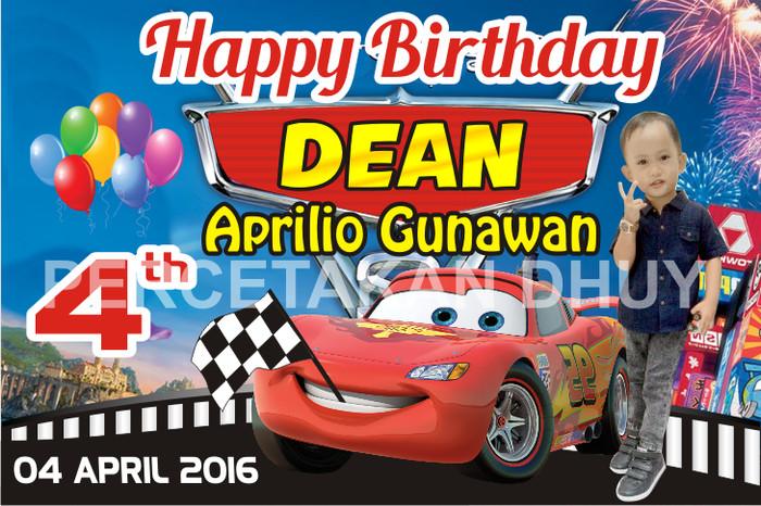 Banner Ulang Tahun Tema Cars