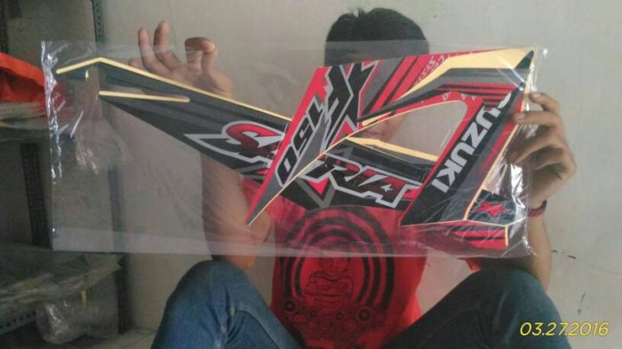 Jual Striping Set Lis Body Stiker Satria Fu 2014 Kedai Striping Motor Tokopedia