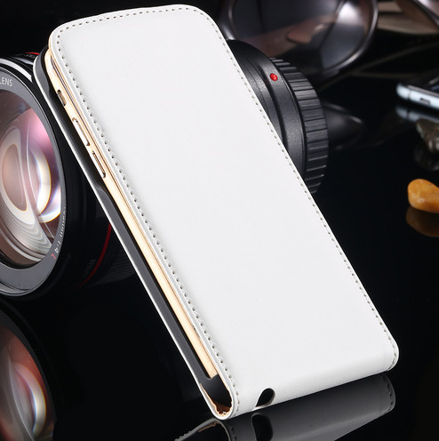 harga Vertical leather flip case magnet iphone 5 (white) Tokopedia.com
