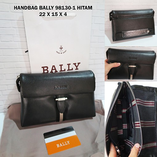 Handbag Bally 98130 1 Hitam Dompet Tas Kecil Tangan Cowok Pria