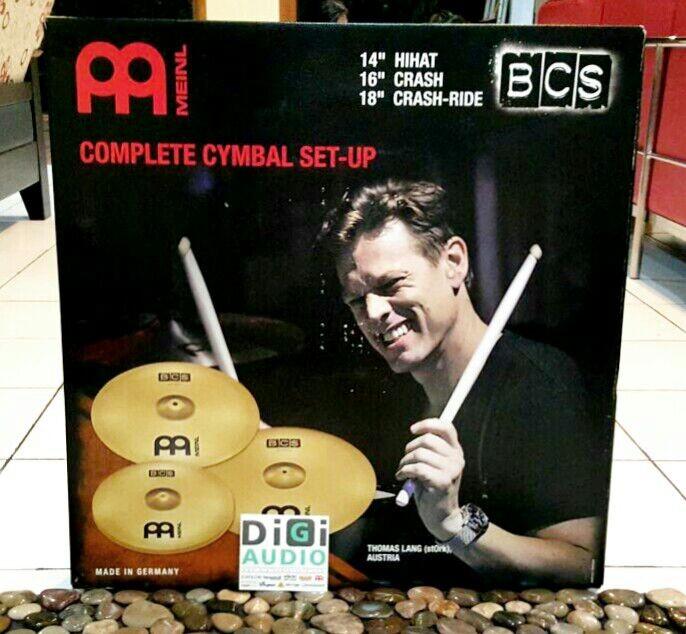 harga Meinl bcs141618 cymbal drum set 14  hihat 16  crash 18  crash ride Tokopedia.com