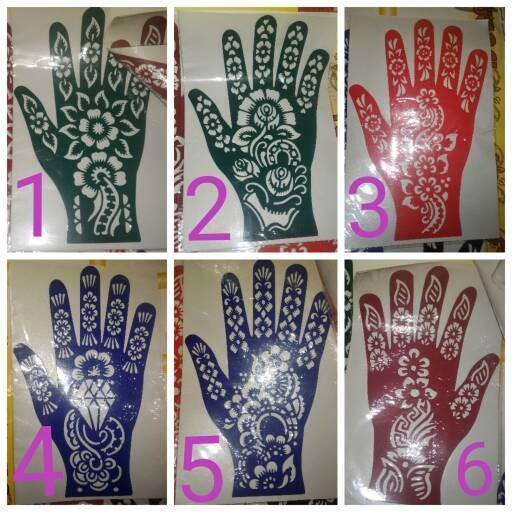 Jual Stiker Henna Tangan Henna Shop Tokopedia